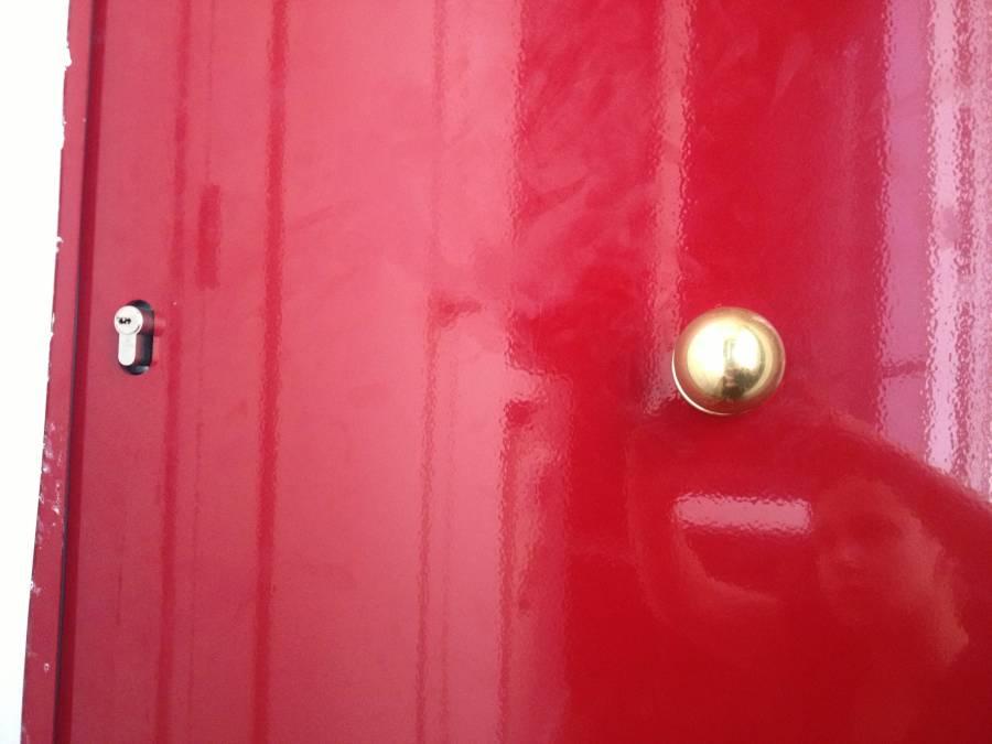 Actual photo of the door.