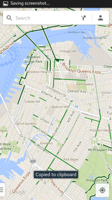 Map showing the bicycle paths.