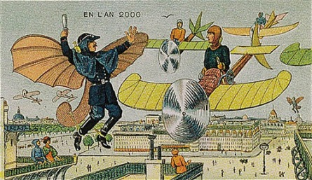 In the 21st century, in order to control traffic jams in the air, there will be more and more flying policemen.