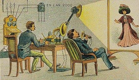 Video-telegraph. (Skype?)