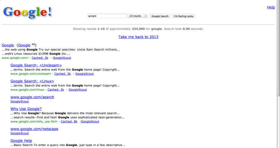google in 1998   Google Search