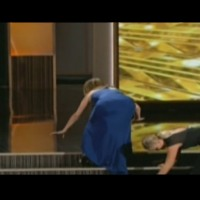 Tina Fey's badonk and nipple slip at the Emmys