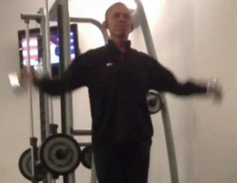 President Obama Working Out In a Polish Gym   YouTube