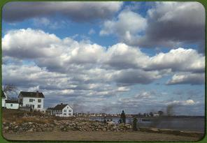 Connecticut town on the sea. Stonington, Connecticut, November 1940. Reproduction from color slide. Photo by Jack Delano. Prints and Photographs Division, Library of Congress