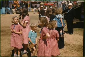 At the Vermont state fair. Rutland, Vermont, September 1941. Reproduction from color slide. Photo by Jack Delano. Prints and Photographs Division, Library of Congress