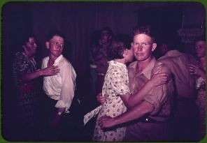 Couples at square dance. McIntosh County, Oklahoma, 1939 or 1940, Reproduction from color slide. Photo by Russell Lee. Prints and Photographs Division, Library of Congress