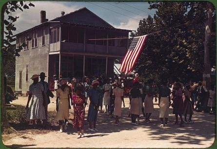 A Fourth of July celebration. St. Helena Island, South Carolina, 1939. Reproduction from color slide. Photo by Marion Post Wolcott. Prints and Photographs Division, Library of Congress