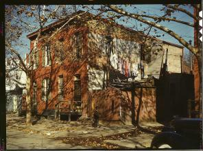House. Washington, D.C.(?), between 1941 and 1942. Reproduction from color slide. Photo by Louise Rosskam. Prints and Photographs Division, Library of Congress